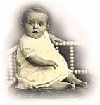 Edna as a baby