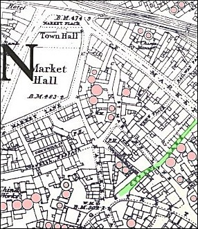 Map of the pottery work in Longton